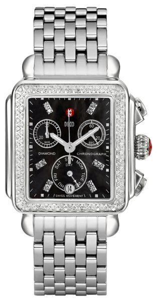 Michele Deco Diamond Black Dial Women's Watch MWW06P000171