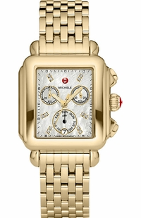 Michele Deco Diamond Gold Women's Watch MWW06P000016