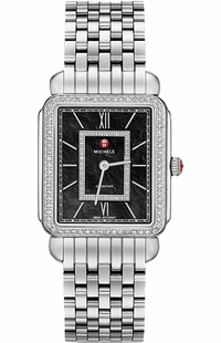 Michele Deco II Black Mother of Pearl Diamond Women's Watch MWW06X000011