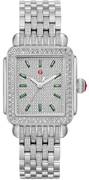 Michele Deco Limited Edition Emerald Pave Women's Watch MWW06T000261