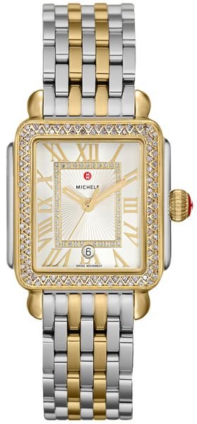 Michele Deco Madison Mid Two Tone Diamond Watch MWW06G000002