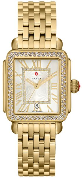 Michele Deco Madison Mid Gold Women's Watch MWW06G000003