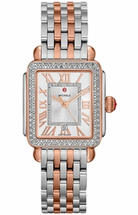 Michele Deco Madison Mid Two-Tone Diamond Watch MWW06G000015