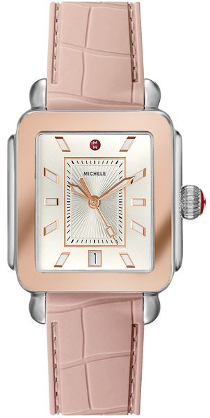 Michele Deco Sport Two-Tone Pink Gold Ladies Watch MWW06K000015