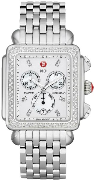 Michele Deco XL Diamond Bezel Women's Watch MWW06Z000001