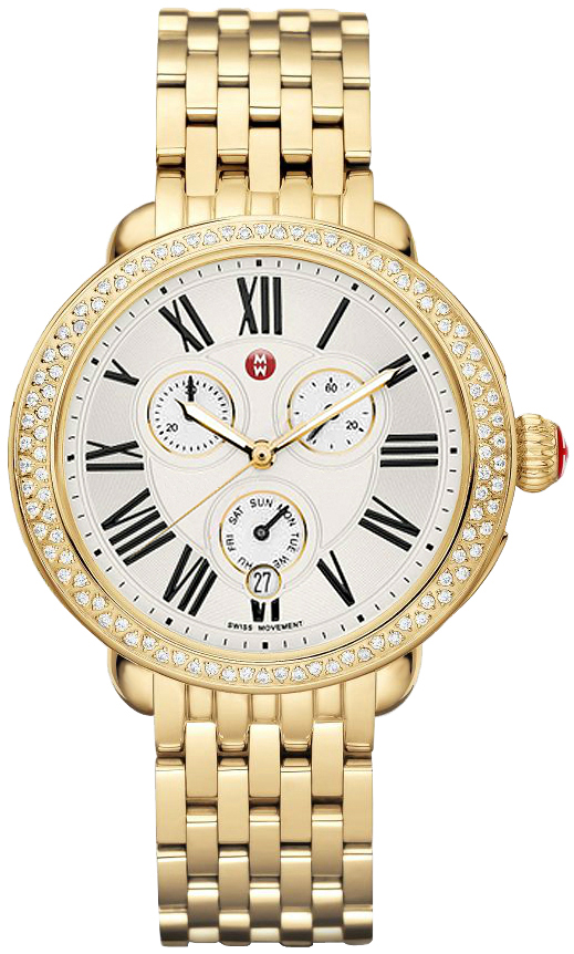 Michele Signature Serein Yellow Gold Women S Watch Mww21a000011