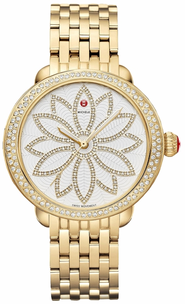 Michele Serein Flower Diamond Ladies Luxury Fashion Watch MWW21A000056