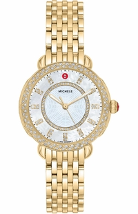 Michele Sidney Classic Gold Tone Women's Watch MWW30B000004