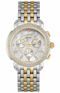 Michele Sidney Women's Diamond Bezel Watch MWW30A000005