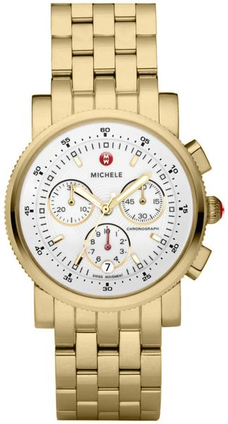 Michele Sport Sail Gold Women's Watch MWW01C000106