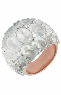 Mimi Milano 18k Rose Gold Diamond Milky Quartz Ring A275C8QLB-81