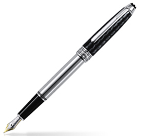 MontBlanc Meisterstuck Solitaire Carbon & Steel Fountain Pen 5827