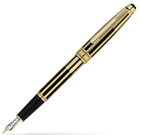 MontBlanc Meisterstuck Solitaire Gold & Black Fountain Pen 35979