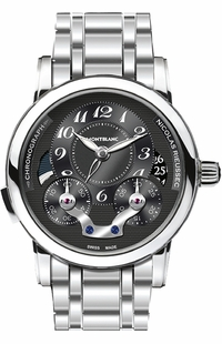 MontBlanc Nicolas Rieussec Black Dial Men's Automatic Chronograph Watch 109996