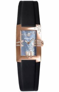 MontBlanc Profile Elegance Gold Women's Diamond Watch 104289