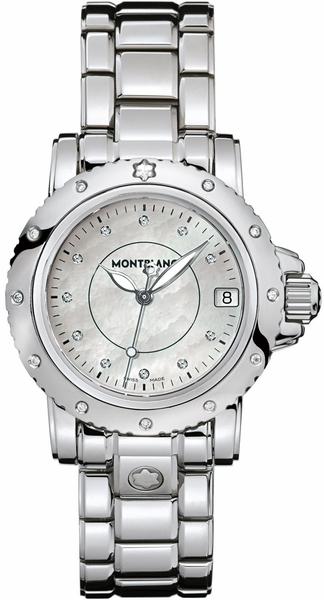 MontBlanc Sport Stainless Steel Luxury Women's Watch 102362