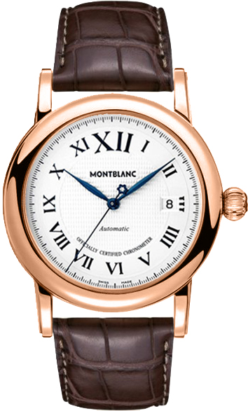 MontBlanc Star Solid 18k Rose Gold Men's Watch 101640