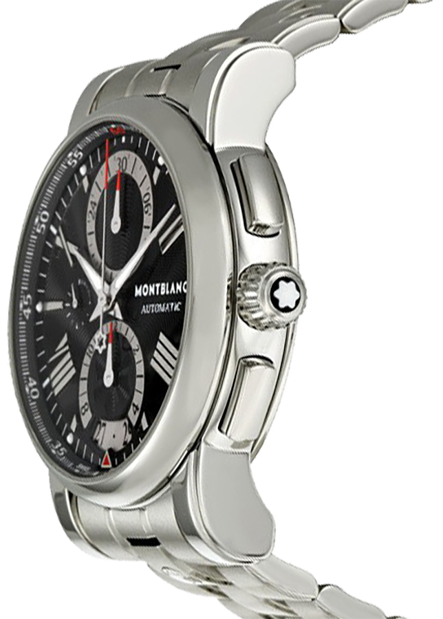 34bbc552cfe ... MontBlanc Star Black Dial Automatic Chronograph Men's Watch 102376 -  image 1 ...