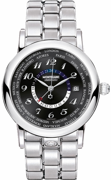 MontBlanc Star World Time GMT Automatic Men's Luxury Watch 109285