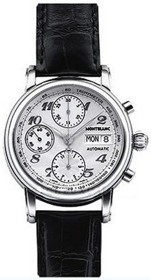 60892c808fb 8452 MontBlanc Star White Dial Automatic Chronograph Dial Mens Watch