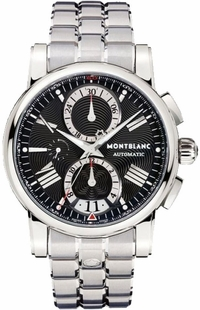 MontBlanc Star Black Dial Automatic Chronograph Men's Watch 102376