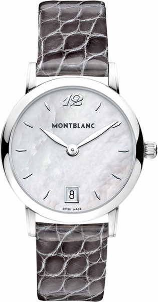 MontBlanc Star Classique Pearl White Dial Ladies Watch 108766