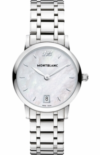 MontBlanc Star Classique Pearl White Dial Ladies Watch 108764