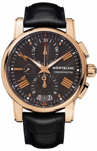 MontBlanc Star Solid Rose Gold Grey Dial Men's Watch 104275