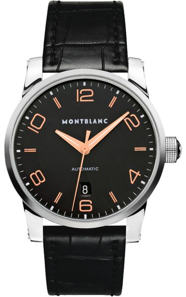 MontBlanc TimeWalker Black Dial Automatic Men's Watch 110337