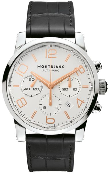 MontBlanc TimeWalker Chronograph Silver Dial Men's Watch 101549