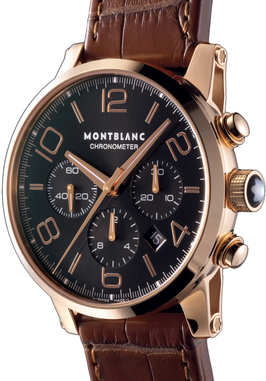 101565 MontBlanc Timewalker Chronograph Mens Red Gold Watch