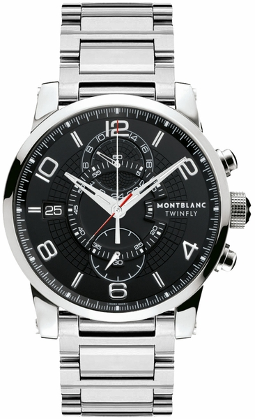 MontBlanc TimeWalker Chronograph Black Dial Men's Watch 104286