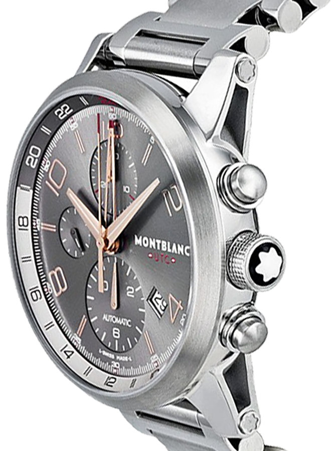 17cd23398 ... MontBlanc TimeWalker Automatic Chronograph Grey Dial Men's Watch 107303  - image 1 ...