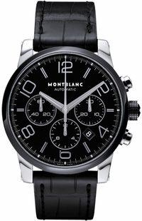 MontBlanc TimeWalker Chronograph Black Dial Ceramic Men's Watch 102365