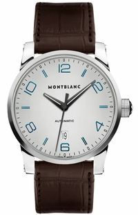 MontBlanc TimeWalker Date Silver Dial Men's Dress Watch 110338