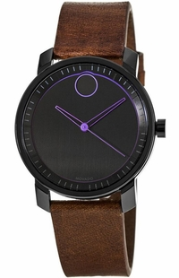 Movado Bold Brown Leather Women's Watch 3600488