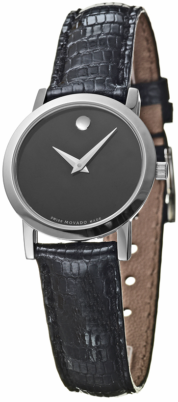 0605651 Movado Classic Museum Black Strap Watch