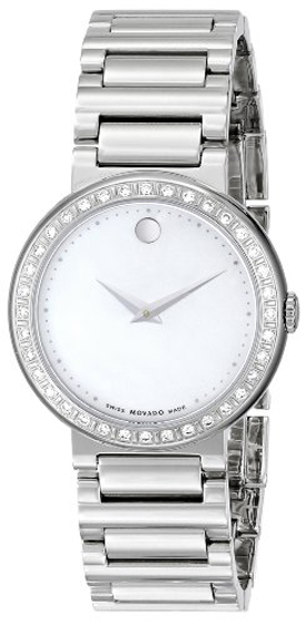 Movado Concerto Mother of Pearl Diamond Women's Watch 0606421