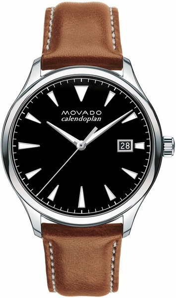 Movado Heritage Series Calendoplan Black Dial Men's Watch 3650001