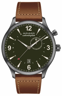 Movado Heritage Military Green Dial Watch 3650018