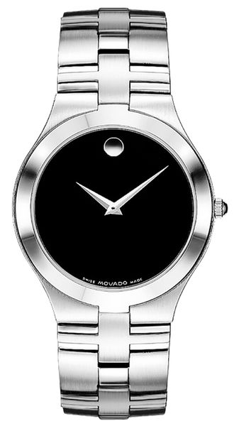 Movado Juro Black Dial Stainless Steel Men's Watch 0605023