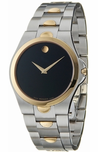 Movado Luno Men's Gold and Stainless Steel Watch 0605635