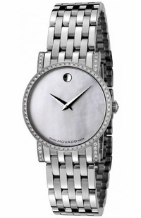 Movado Museum Automatic Women's Watch Pearl White Dial 0605326