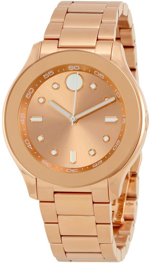 Movado Bold Ladies Watch 3600417 Rose Gold Women's Watches