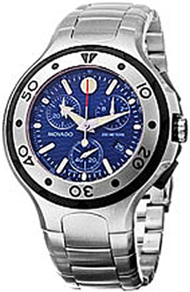 58fb3f98a 2600020 Movado Series 800 Blue Steel Chronograph - AuthenticWatches.com