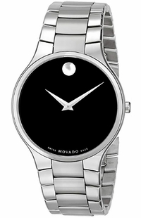 Movado Serio Black Dial Watch for Men 0607283
