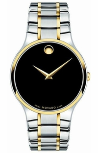 Movado Serio Men's Gold Watch 0607284