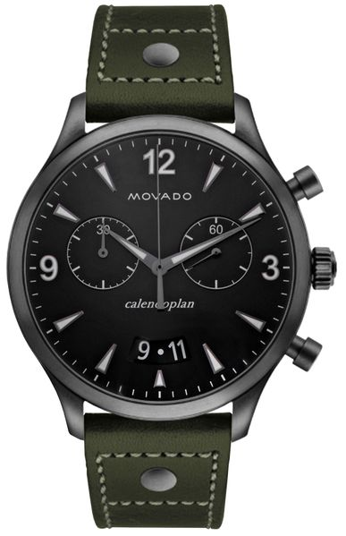 Movado Heritage Men's Black Dial Watch 3650029