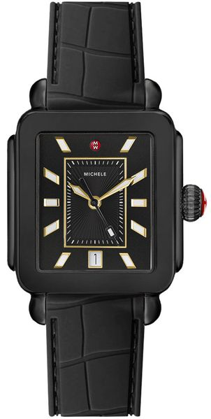 Michele Deco Sport Black Dial Ladies Watch MWW06K000012