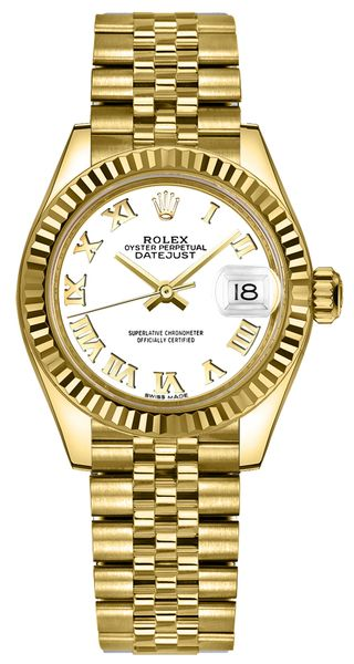 Rolex Lady-Datejust 28 White Dial Watch 279178